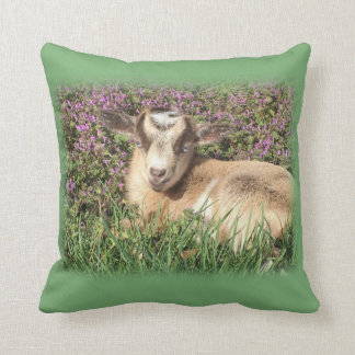 Baby Goat Kid Barnyard Farm Animal Cushion