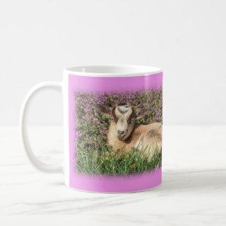 Baby Goat Kid Barnyard Farm Animal Pink Floral Coffee Mug