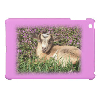 Baby Goat Kid Barnyard Farm Animal Teen Girl Pink iPad Mini Cover