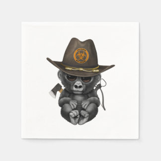 Baby Gorilla Zombie Hunter Disposable Napkin