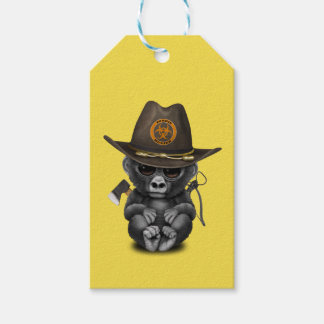 Baby Gorilla Zombie Hunter Gift Tags