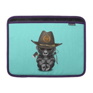 Baby Gorilla Zombie Hunter MacBook Sleeve