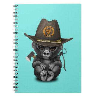 Baby Gorilla Zombie Hunter Notebook