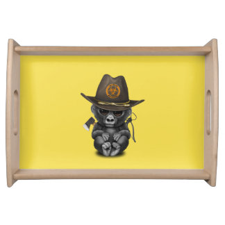 Baby Gorilla Zombie Hunter Serving Tray