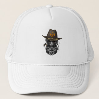 Baby Gorilla Zombie Hunter Trucker Hat