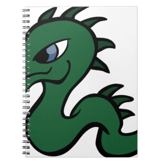 Baby Green Dragon Spiral Notebook
