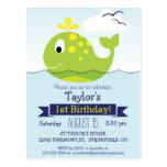 Baby Green Whale Kid's Birthday Party