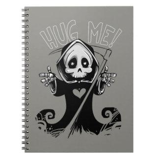 Baby Grim Reaper Hug Me Spiral Notebook