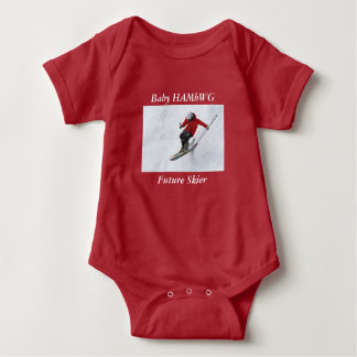 Baby HAMbWG Skiing - T-Shirt or Snap T