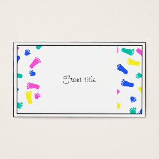 Baby Hand Prints and Foot Prints Business Card