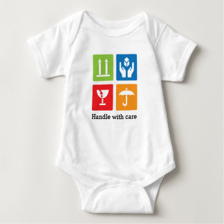 """Baby """"Handle with care"""" Jersey Bodysuit"""