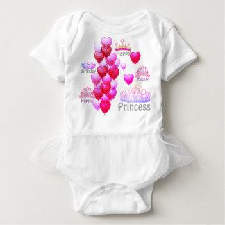 Baby Happy Birthday Princess Tutu Bodysuit
