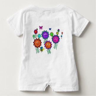Baby Happy Flowers Baby Bodysuit