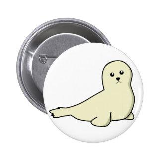 Baby Harp Seal Button