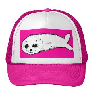 Baby Harp Seal Cap