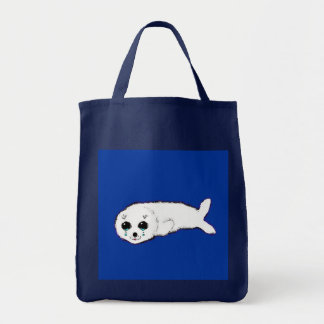 Baby Harp Seal Grocery Tote Bag