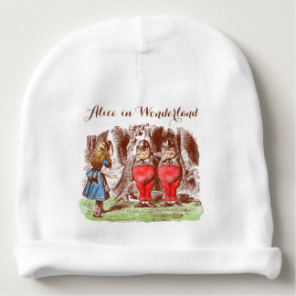 Baby Hat: Alice in Wonderland Tweedle Baby Beanie