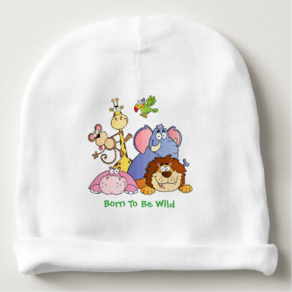 Baby Hat--Jungle Animals Baby Beanie
