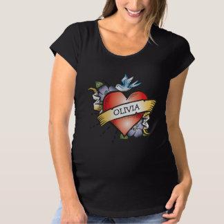 Baby Heart Tattoo Maternity T-Shirt