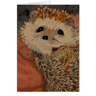 Baby Hedgehog Note Card
