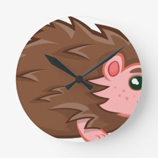 Baby Hedgehog Round Clock