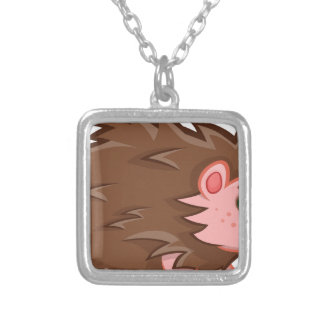 Baby Hedgehog Silver Plated Necklace