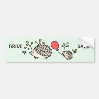 Baby Hedgehog's Red Balloon Bumper Sticker