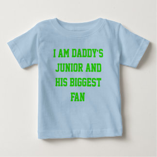 "Baby herdsman blue ""Daddy's biggest fan "" Baby T-Shirt"