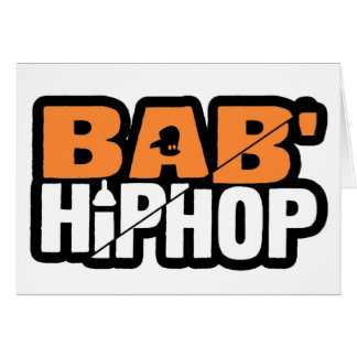 Baby hip Hop Logo One Greeting Card
