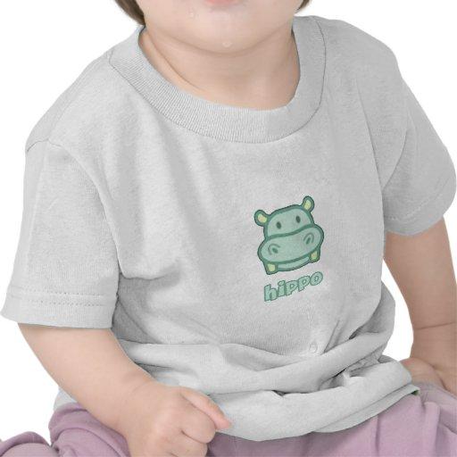 Baby Hippo Cartoon Shirts