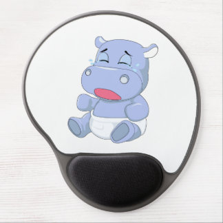 Baby Hippo Crying Gel Mouse Pad