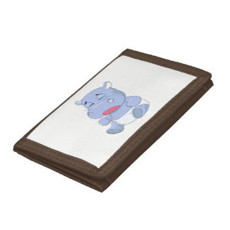 Baby Hippo Crying Trifold Wallets