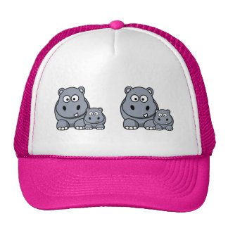 Baby Hippo Family, Cute Wild Safari Cap