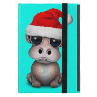 Baby Hippo Wearing a Santa Hat iPad Mini Case