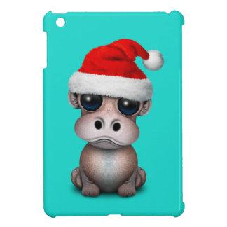 Baby Hippo Wearing a Santa Hat iPad Mini Covers