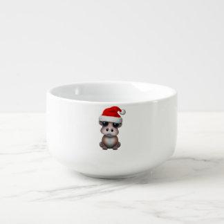 Baby Hippo Wearing a Santa Hat Soup Mug