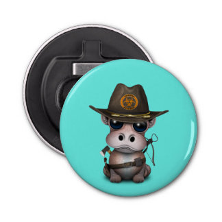 Baby Hippo Zombie Hunter Bottle Opener