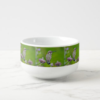 Baby Hummer on Lavender Soup Mug