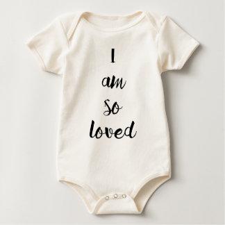 """Baby """"I am so loved"""" Baby Bodysuit"""