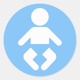 Baby Icon in blue Round Sticker