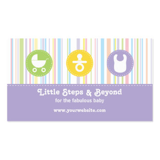 Baby Icon Trio Stripes Lilac Pack Of Standard Business Cards