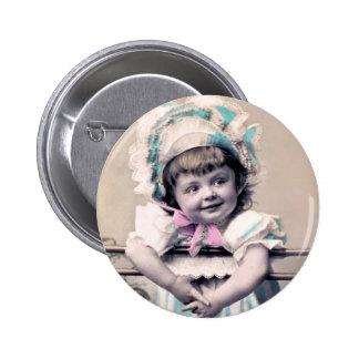 Baby in a Bonnet 6 Cm Round Badge