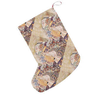 Baby in Brightly Colored Quilt Small Christmas Stocking