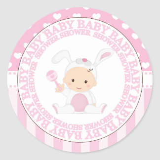 Baby in Bunny Suit Shower Sticker