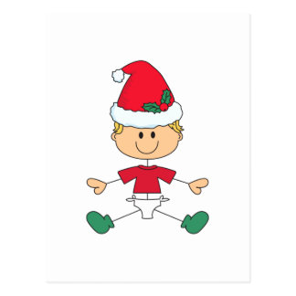 BABY IN CHRISTMAS HAT POSTCARD