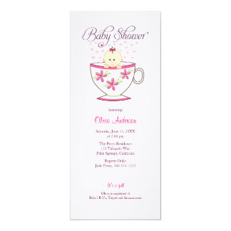 Baby in Tea Cup, Baby Shower Invitations