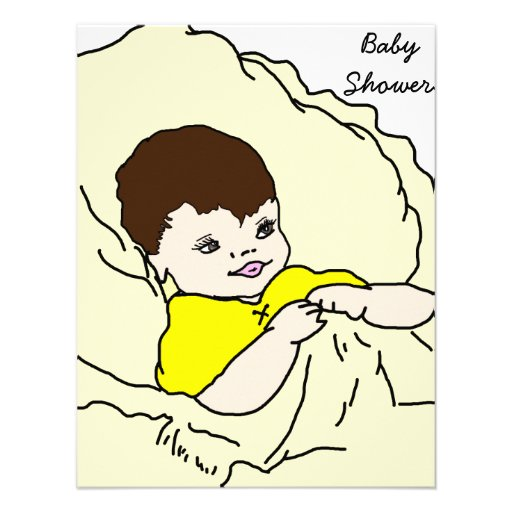 Baby in Yellow Personalized Invite