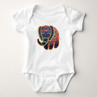 Baby Indian Elephant Design Baby Bodysuit