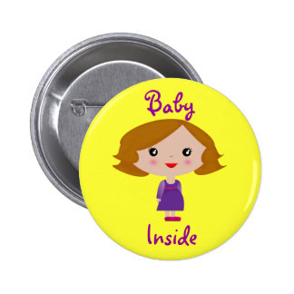 Baby Inside 6 Cm Round Badge