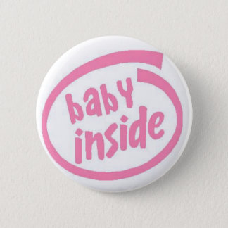 Baby Inside Button - Pink